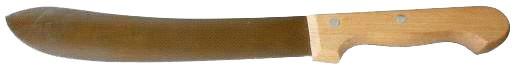 Sattlermesser mit Holzgriff